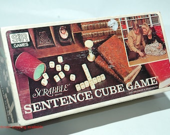 Scrabble Sentence Cube Game from Selchow & Righter 1971 COMPLETE (read description)