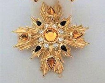 Joan Rivers LargeTopaz Brooch - S2192