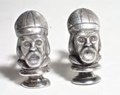 SWANK 1950s Bishop Chess Piece Figural Cufflinks
