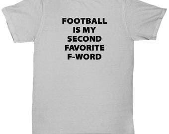 NFL Football Second Favorite F-Word Funny Mug Gift for Sports fan Quarterback Touchdown Coffee Cup