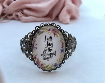 The Old Rugged Cross cuff bracelet