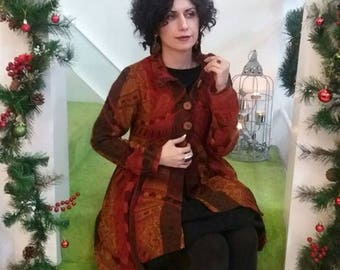 Handmade coat,100%Merino wool ,only size 8 and 10 available
