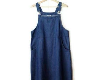 Denim Jumper /Overalls Dress from 1990's*