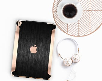 "Brushed Black with Rose Gold for the iPad Pro 9.7 / iPad Pro 10.5"" / New iPad 9.7"" Smart Keyboard compatible Hard Case - Platinum Edition"