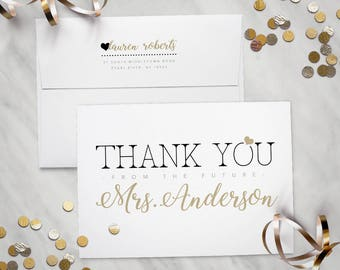 Thank you from the future Mrs. – Printed Thank You Cards