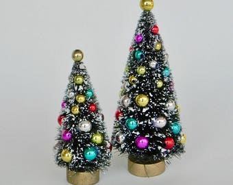 fairy garden christmas trees miniatures decorated tree winter fairy garden sisal bottle - Christmas Tree Accessories