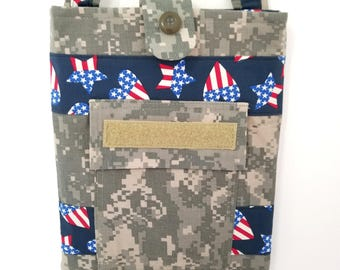 Small Military Tote (Stars & Hearts/Army ACU)