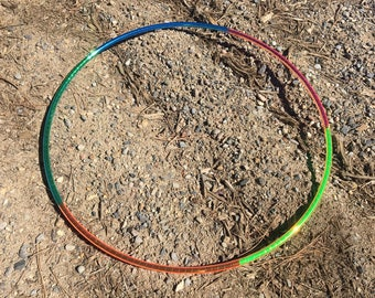 UV Rainbow Taped PolyPro or HDPE Hula Hoop