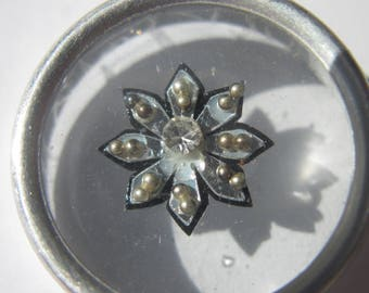 rhinestone jewel of skin to stick to the pretty pattern 9 mm approximately (12)