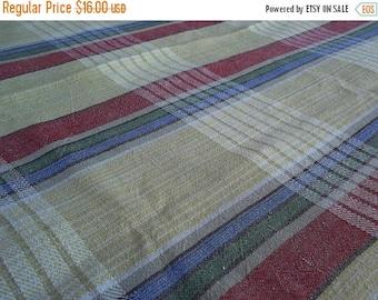 Summer sale Handwoven linen tablecloth. Vintage tablecloth. Swedish vintage 1960'