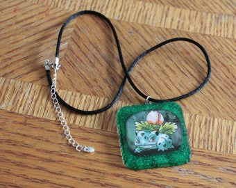 Ivysaur Pokemon Card Necklace