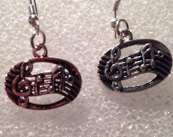 Music notes Earring