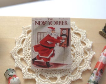 dollhouse christmas new yorker vintage  magazine 12th scale miniature journal