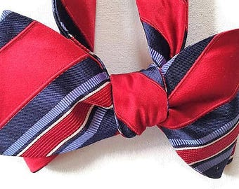 Silk Bow Tie for Men - President - One of-a-Kind, Handtailored, Self-tie - Free Shipping