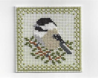 Birds of the Air - Chickadee - Counted Cross Stitch Chart - PDF Instant Download