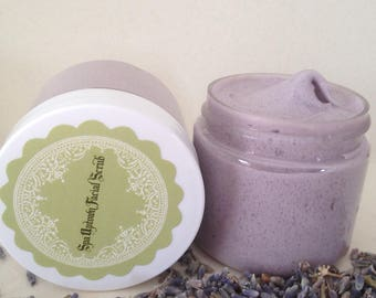 COCONUT LAVENDER VANILLA- Spa Exfoliating Facial Sugar Scrub-Handmade by Spa Uptown-Gift 8 fl oz
