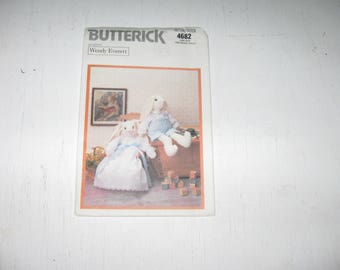 Half Price Sale Butterick Pattern 4682 Wendy Everett Victorian Rabbits Boy And Girl Dress Pantaloons Shirt And Shorts 20 Inch Tall Bunny