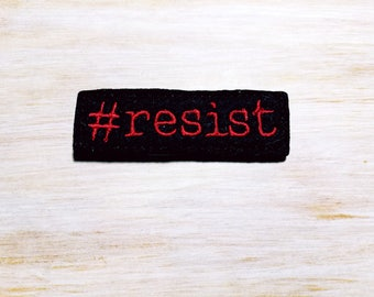 Resist Planner Clip or Charm