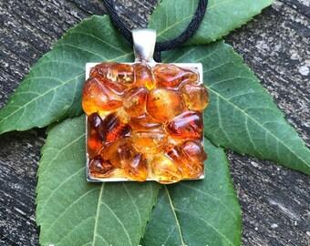 Tumbled Citrine crystal handmade meatphysical pendant gypsy hippie pagan boho bohemian magick new age jewelry