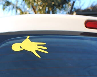 6X Yellow Midnight Oil Sprint Hand removable decals