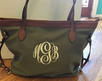 Monogramed Tote Bag/Purse