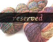 RESERVED for MeshaMarie Starry Night OOAK - 4 oz targhee/bamboo/silk combed top