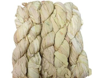 SALE New! Sari Silk Ribbon, 100g , Color: Light of Day