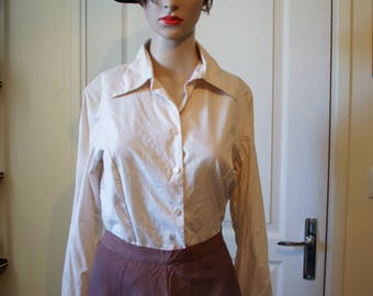 Vintage cream shirt.  1940s style