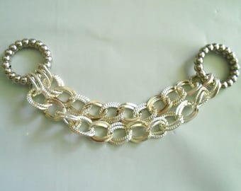 Silver Plated Scarf Jewelry Chain Necklace Sold Per Set