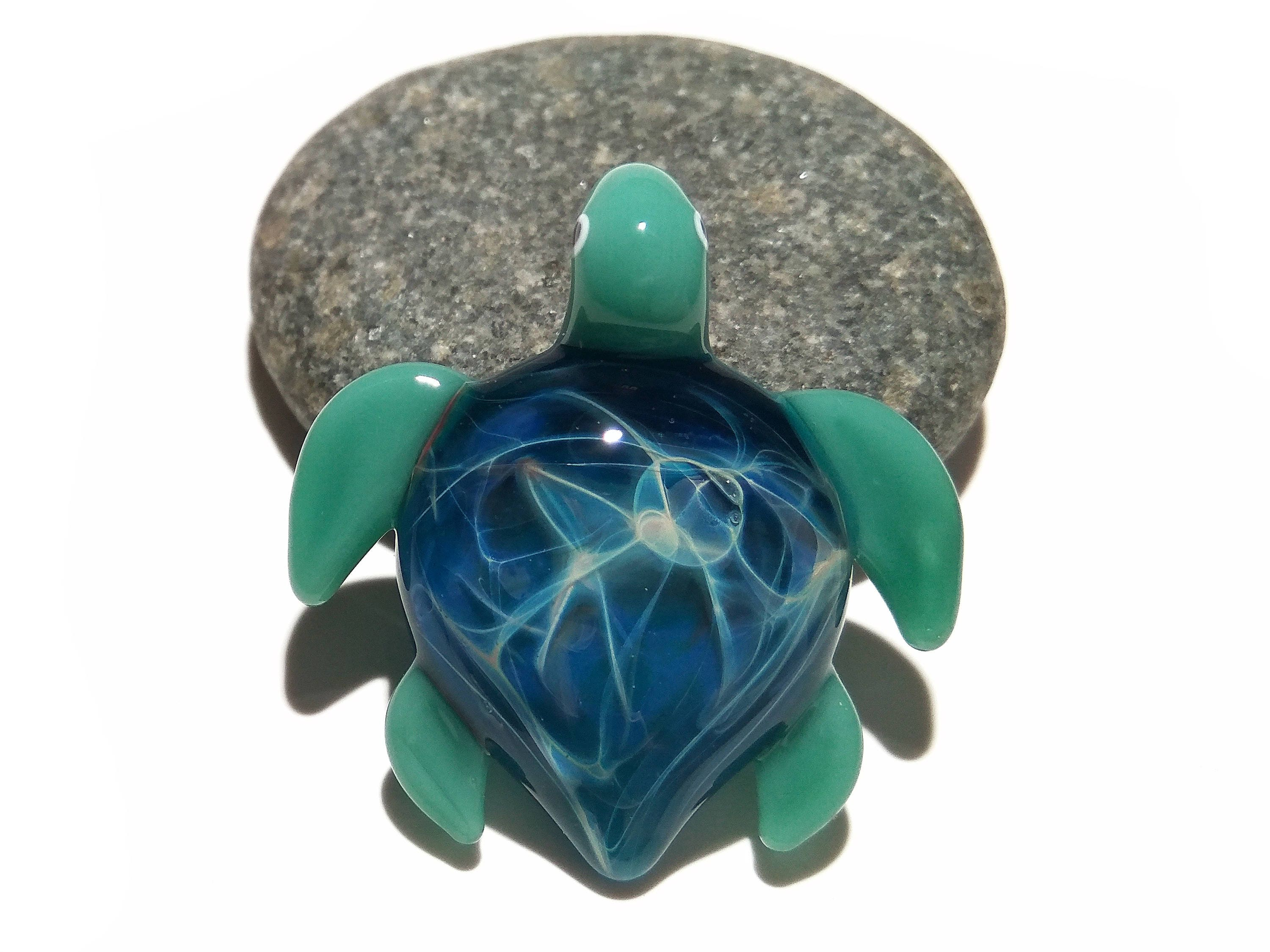 Glass turtle baby starburst turtle pendant glass pendant 1 mozeypictures Images