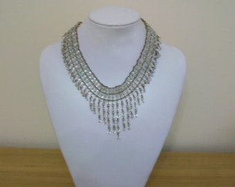 Vintage Glass Fringe Necklace