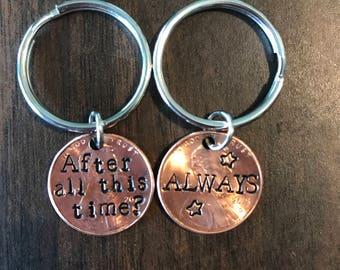 Harry Potter keychain set