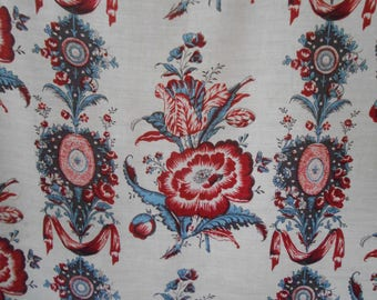 Exquisite Antique French Linen Textile Fabric 2.5 yards