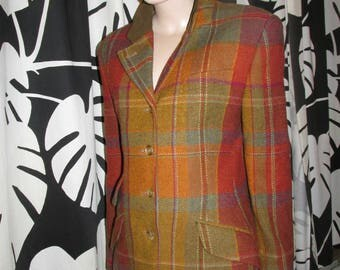 Vintage Daks wool jacket.Plaid wool jacket.Daks vintage made in Great Britain.