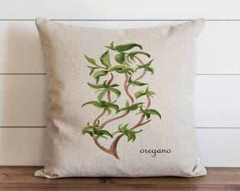 Botanical Oregano 20 x 20 Pillow Cover // Everyday // Herbs // Gift // Accent Pillow