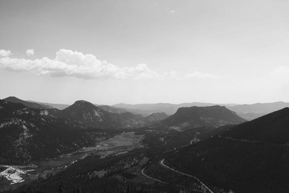 Bear Lake Overlook Black and White Fine Art Photography Print