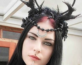 Gothic Headpiece//witchy/OOK/horn headpiece/tribal headpiece/pagan/wicca