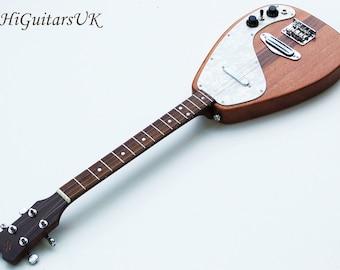 HiGuitarsUK Raindrop Long Scale Steel Stringed True Electric Baritone Ukulele/Tenor Guitar.