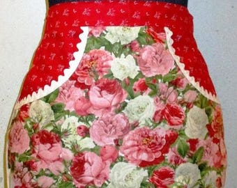 Rose Garden   - Clothespin Apron, Gathering Apron, Farmhouse Classic