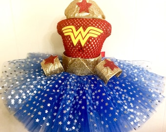 Wonder Baby Tutu-Ready2Ship  Perfect 4 pageant wear, outfit of choice, photo shoot, Memorial Day, Fourth of July or birthday