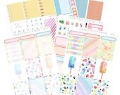 Summer Planner Sticker Kit / Popsicle Planner Stickers / Planner Stickers / Erin Condren Planner Stickers / Weekly Sticker Kit / WK75
