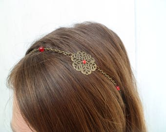 "bronze headband and Red Crystal ""ness"""