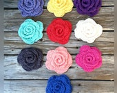 Dog collar rose, Cat collar crochet rose, clip on, for bandanas, harness or collars, crochet 10 colors.