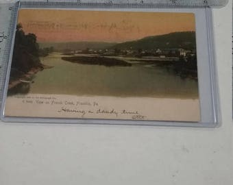 10% OFF 3 day sale Franklin Pa Postcard  View of french creek