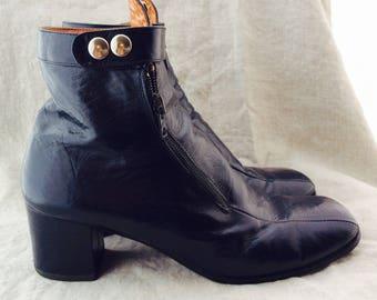 Funky rare vintage ankle boots designer 50s 60s size 7