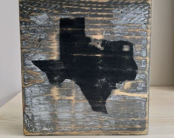 Texas Wood Block