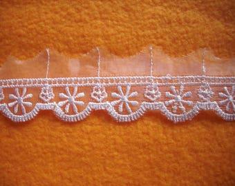 Lace ribbon, white, 1m (387)