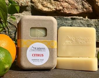 Citrus Soap - Vegan Soap - Lemon Soap - Bar Soap - Lime Soap - Grapefruit Soap - Cold Process Soap - Hostess Gift - Handmade Soap -
