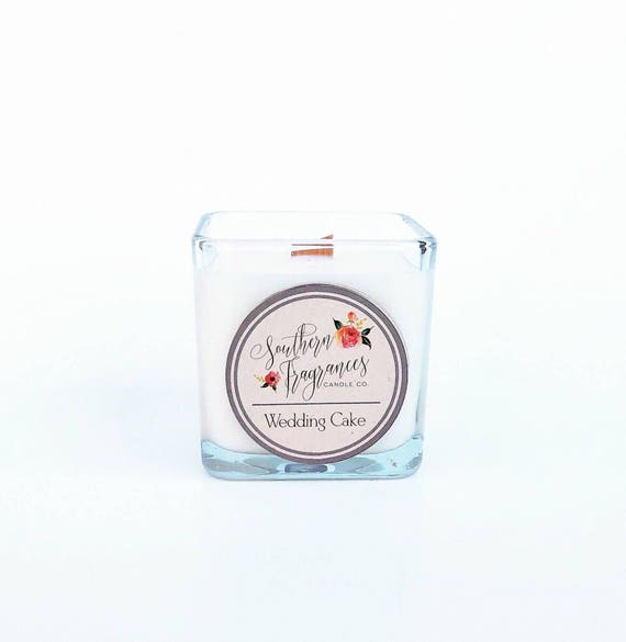 Wedding Cake Soy Candle | 12oz Soy Candle | Wood Wick Candle