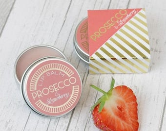 Prosecco and Strawberry Lip Balm Gift